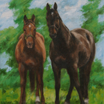 Horse Oil Painting Equine Portrait Landscape Art