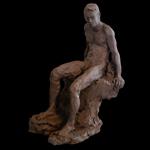 """""""Fine Art Male Clay Sculpture"""""""