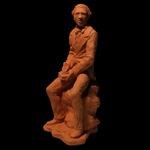 William Wells Brown Fired Clay Figurative Literary Sculpture Art Statue