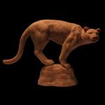 Wildlife Art Cougar Mountain Lion Sculpture Wild Cat Predator