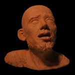 Apostle Paul Head Bust Fired Clay Sculpture