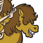 Western Style Horse Logo Illustration