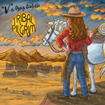 western, cowboy, horse, cartoon, illustration, cd, compact disk, music, town, mountains, sunset, illustration