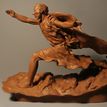 peter, apostle, sculpture, polymer, clay, miracle, bible, story, sea of galilee, walking, water